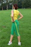 Fit senior woman exercising Royalty Free Stock Photo