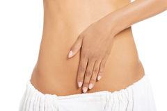 Fit and slim woman belly Stock Photos
