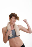 Fit slim woman with muscles Royalty Free Stock Photo