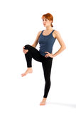 Fit Slim Woman Practising Yoga Stock Image