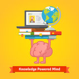 Fit, smart and trained brain lifting books Royalty Free Stock Photo