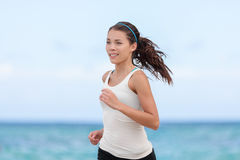 Fit sport athlete running woman runner jogging Royalty Free Stock Image