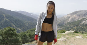 Fit sportive female Stock Photos