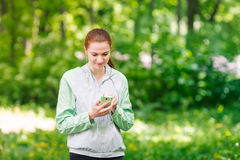 Fit sportive women jogging in the park Royalty Free Stock Photography