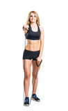 Fit and sporty woman in sportswear Stock Photos