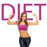 Fit sporty young woman diet concept Stock Photography