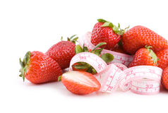 Fit strawberries Stock Images