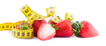 Fit strawberries fruits Royalty Free Stock Photos