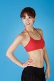 fit sund kvinna Arkivfoton