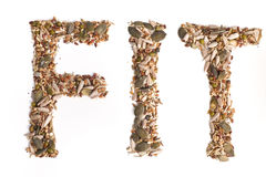 FIT text from mixed seeds Stock Photography