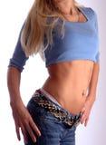 fit torso för blue Arkivbild