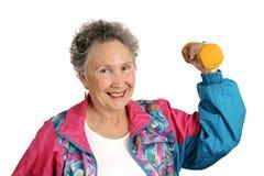 fit vänlig pensionär Arkivbilder