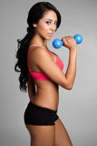 Fit Woman. Healthy fit latin woman exercising stock images