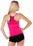 Fit woman back stock images