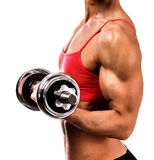 Fit woman with a barbell Stock Image