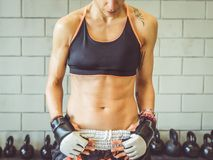 Fit woman body Stock Images