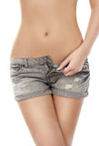 Fit woman body in jeans texas Stock Photos
