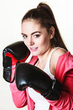 Fit woman boxing Royalty Free Stock Image