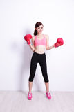 Fit woman boxing Stock Photography
