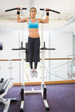 Fit woman doing crossfit fitness workout in gym Royalty Free Stock Photo