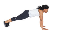 Fit woman doing push up Stock Photo