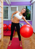 Fit woman exercise Stock Photos