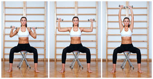 Fit woman exercise Royalty Free Stock Images