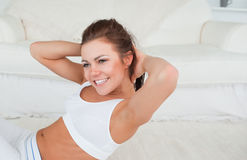 Fit woman exercising Royalty Free Stock Photo
