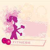 Fit woman exercising Royalty Free Stock Image