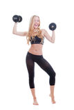Fit woman exercising Royalty Free Stock Photography