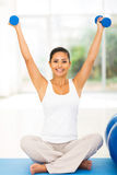 Fit woman exercising Stock Images
