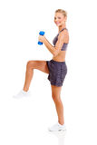Fit woman exercising Stock Photos