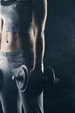 Fit woman stock image