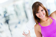 Fit woman at the gym Royalty Free Stock Images