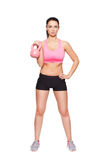 Fit woman holding kettlebell Royalty Free Stock Photography