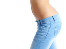 Fit Woman In Jeans Stock Photo