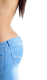 Fit woman in jeans stock photos