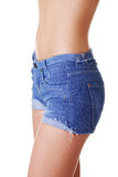 Fit woman in jeans shorts Royalty Free Stock Photography