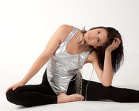 Fit Woman in Leotard and Leggings Royalty Free Stock Photography