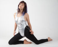 Fit Woman in Leotard and Leggings Stock Photography