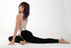 Fit Woman in Leotard and Leggings Royalty Free Stock Image