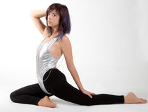Fit Woman in Leotard and Leggings Royalty Free Stock Photos