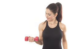 Fit woman lifting weights Stock Photos