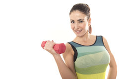 Fit woman lifting weights Royalty Free Stock Photography