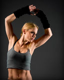 Fit woman muscle definition Royalty Free Stock Photos