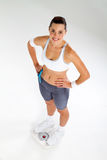 Fit Woman On Scale Stock Images