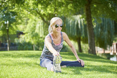 Fit woman outdoor Royalty Free Stock Photography