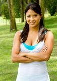 Fit woman outdoors Royalty Free Stock Photography