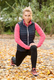 Fit woman in park Royalty Free Stock Photos