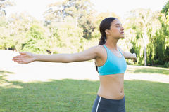 Fit woman in park Stock Photography